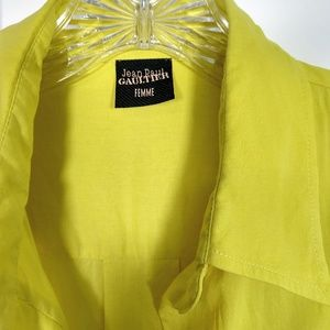 Jean Paul Gaultier Tops - Gaultier Femme lemon corset buttondown 8